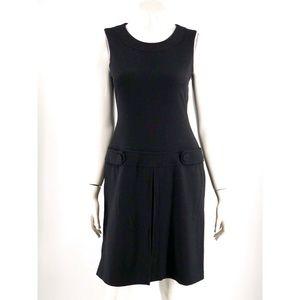Calvin Klein Dress 4 Black Sleeveless Drop Waist
